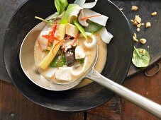 Thai chicken soup with curry