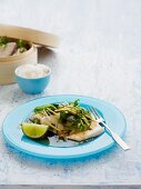 Steamed Fish with Coriander