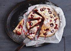 Thick cherry pancake