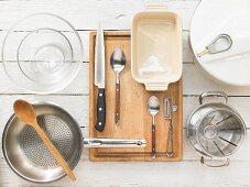 Kitchen utensils for making a terrine