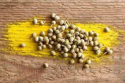 Sansho pepper on a wooden background