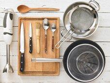 Kitchen utensils for preparing mushrooms