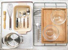 Kitchen utensils for making honey bananas