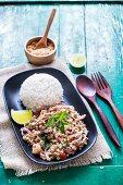 Laab Moo (mince salad, Thailand)