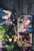 How to prepare vegetables, herbs and spices for fermentation