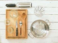 Kitchen utensils for making boiled fruits