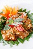 Chicken satay in a Thai Restaurant