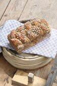 Rye spelt bread with sunflower seeds
