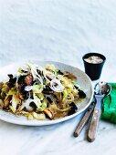 Korean stir-fried potato starch noodles