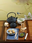 Matcha tea and mochi (Japan)