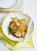Low-Carb Garlic Prawn and Daikon Noodle Stir-fry