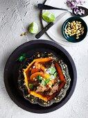 Lateinamerikanischer Rindfleisch-Kürbis-Eintopf