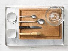 Kitchen utensils for making baked quail eggs