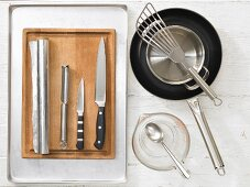 Kitchen utensils for preparing offal