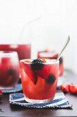 Berry plum rosé sangria