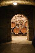 A wine cellar at the Domaine de la Romaneé-Conti estate in Burgundy, France