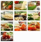How to make grilled tomatoes, stuffed with couscous