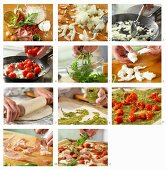 How to make pizza with parma ham, rocket and pesto