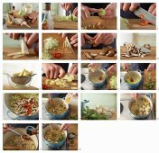 How to make Asian cabbage soup with tofu, bamboo and shiitake mushrooms