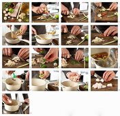 How to make lemongrass soup with spined loach and mushrooms
