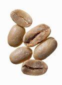 Unroasted Maragogype Arabica coffee beans, Guatemala