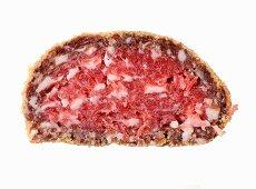 Pitina (a dried, smoked meatball, Italy)