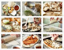 How to make mushroom pizza