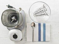 Kitchen utensils for making shakes