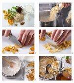 How to make wild rice porridge with dried mango and cardamom