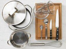 Kitchen utensils for making semolina with fruit