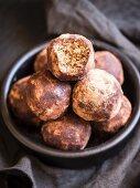 Homemade energy protein balls
