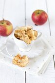 Apple chips in a cup