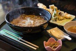 Noodle soup and tempura (Japan)