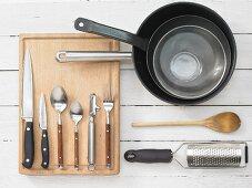Kitchen utensils for making fried rice