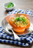 Pepper stuffed with couscous