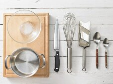 Kitchen utensils for making a crab salad