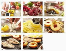 How to make chicken breast with grilled peaches and mozzarella