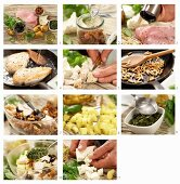 How to make chicken and potato salad with pesto, sheep's cheese and pine nuts