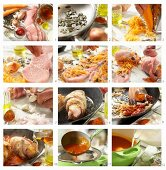 How to make Styrian veal roulades with pumpkin kernels and pepper sauce (Austria)