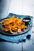 Pumpkin chips with salt