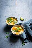 Pumpkin and cauliflower curry