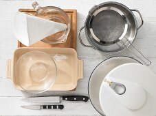 Kitchen utensils for the preparation of vegetarian cannelloni
