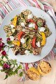 Fregola with grilled vegetables, Sicilian lemon and ricotta