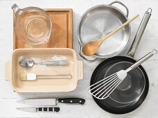 Kitchen utensils for the preparation of vegetable lasagne