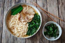 Ramen with pork and algae (Japan)