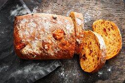 Tomato and parmesan ciabatta