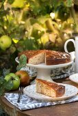 Apple cake with syrup