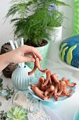 Small octopus sausages for a maritime themed party