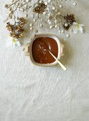 Caramel sauce with sea salt
