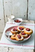 'Bauernkrapfen' doughnuts with rhubarb filling